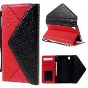 Envelop Plånboksfodral till Sony Xperia Z5 Premium - Svart/Röd