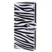 Plånboksfodral till Sony Xperia Z5 Premium - Zebra