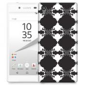 Skal till Sony Xperia Z5 Premium - Mönstrad tapet - Svart