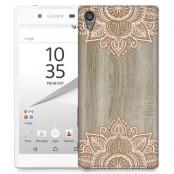 Skal till Sony Xperia Z5 Premium - Trä - Mandala