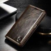 Caseme Oil Wax Plånboksfodral till Sony Xperia Z5 - Brun