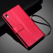 Plånboksfodral läder till Sony Xperia Z5 - Magenta