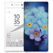 Skal till Sony Xperia Z5 - Blå blommor
