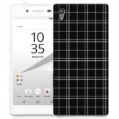 Skal till Sony Xperia Z5 - Sömmar - Rutmönster Svart
