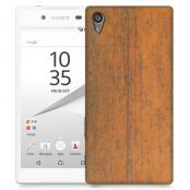 Skal till Sony Xperia Z5 - Slitet trä