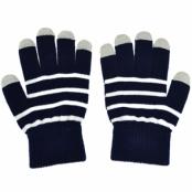 Touch-vantar randiga mörkblå/vit