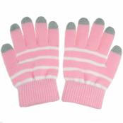 Touch-vantar randiga rosa/vit