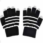 Touch-vantar randiga svart/vit