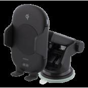 DELTACO Qi laddare för bilen med IR sensor, 10W - sugkopp